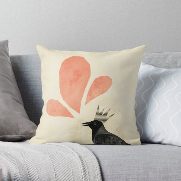 King Crow Throw Pillow