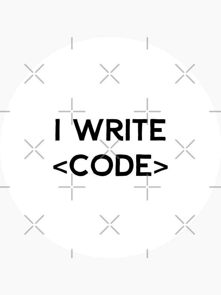 I Write Code (Inverted) by developer-gifts