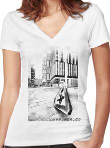 11 Women's Fitted V-Neck T-Shirt