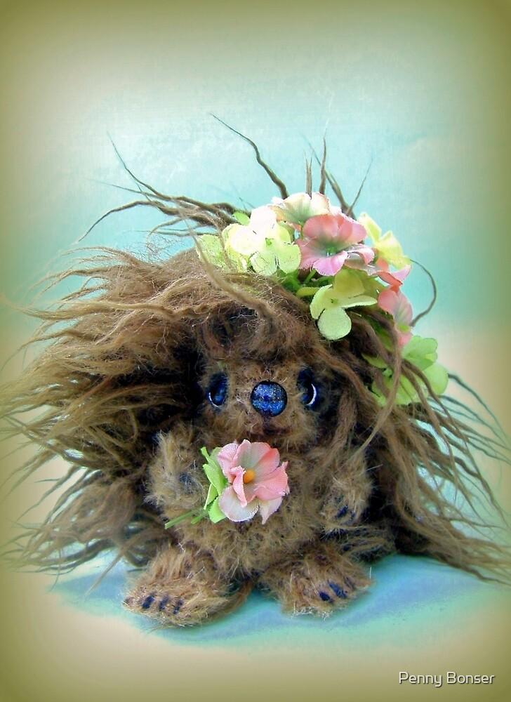 Handmade bears from Teddy Bear Orphans - Hilary Hedgehog by Penny Bonser