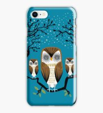 Three Lazy Owls iPhone Case/Skin