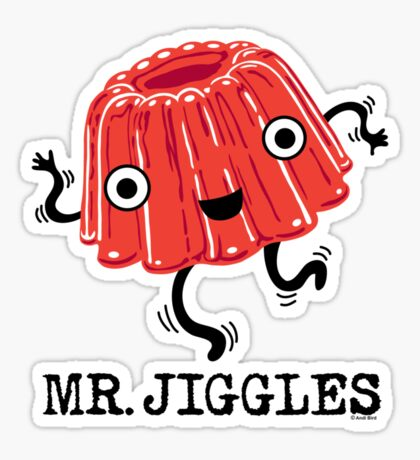 Mr Jiggles - Jello Sticker
