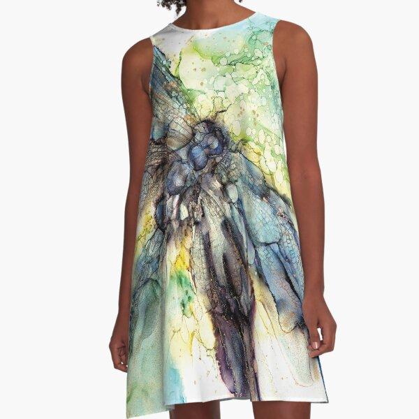 Spring Dragonfly A-Line Dress