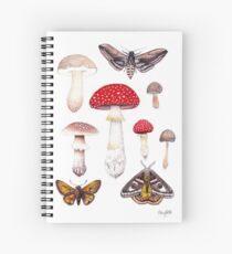 Moths and Mushrooms  Spiral Notebook