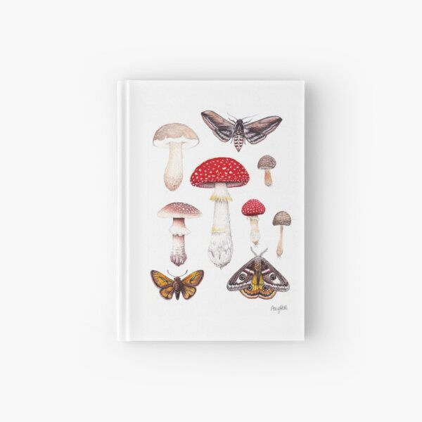Moths and Mushrooms  Hardcover Journal