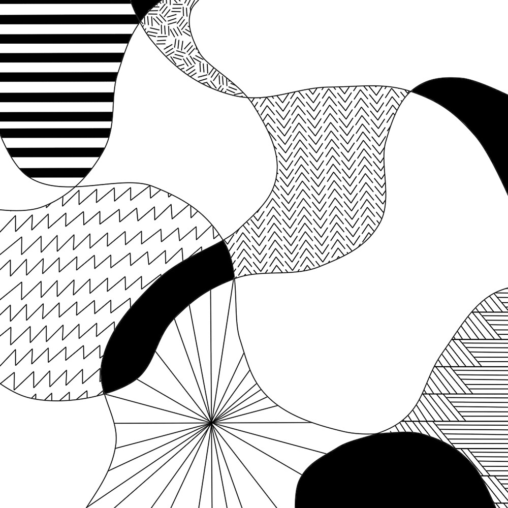 Black and White Pattern by Sophia Petrov