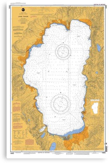 Lake Tahoe California Map by parmarmedia