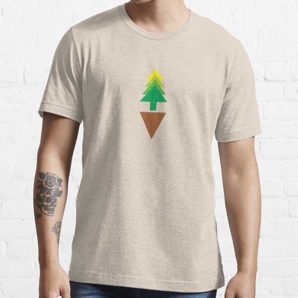 Simple Earth Evergreen Tree Essential T-Shirt