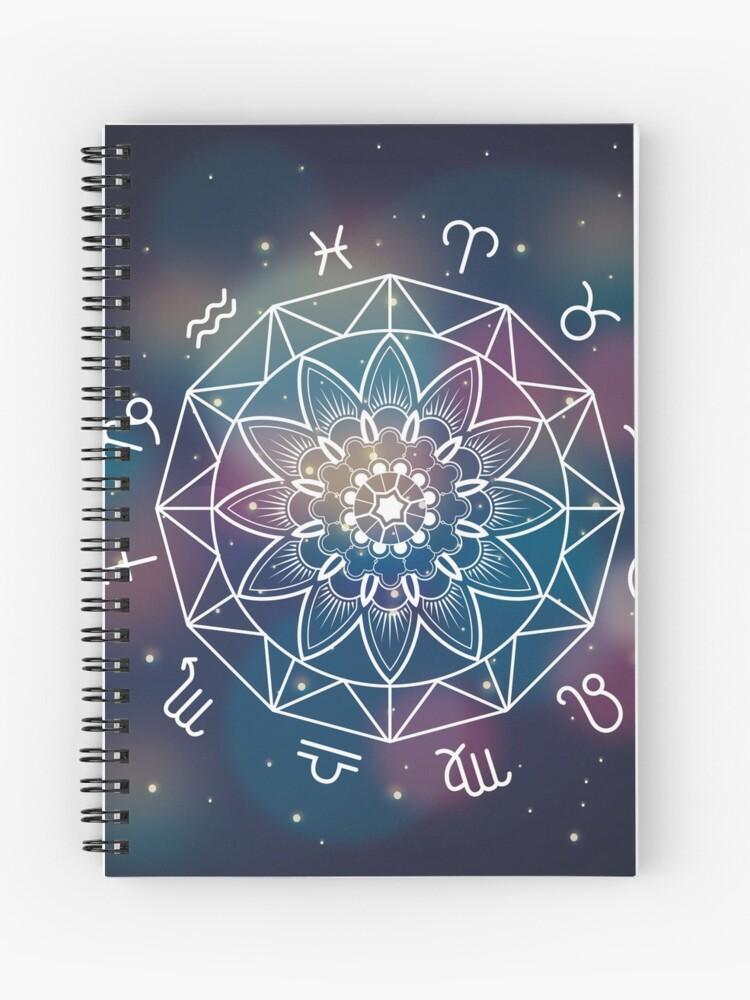 Cuaderno De Espiral Mandala Signos Del Zodiaco Símbolos De Creativeflare Redbubble