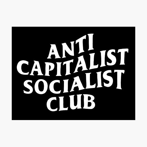 Anti Capitalist Socialist Club - The Peach Fuzz Photographic Print