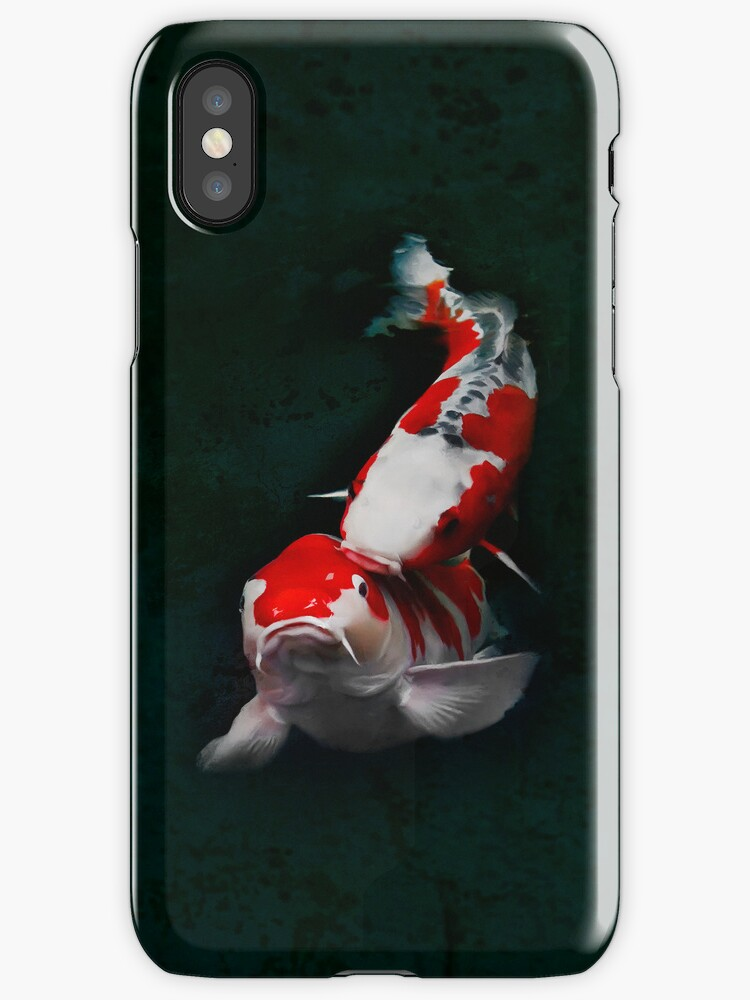 Koi Fish (kissing) - iPhone Case by Yves Rubin