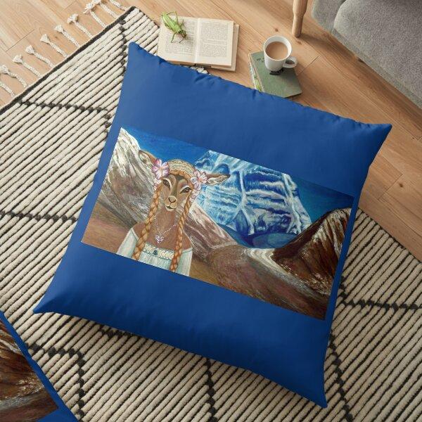 Lady Impala in Tibet's Mount Kailash Floor Pillow