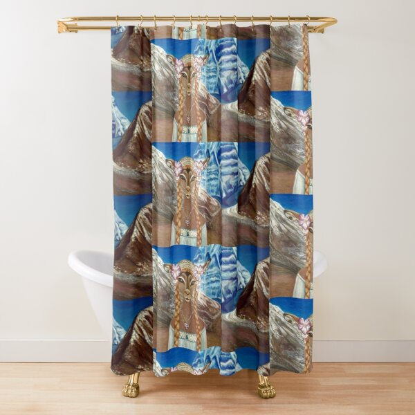 Lady Impala in Tibet's Mount Kailash Shower Curtain