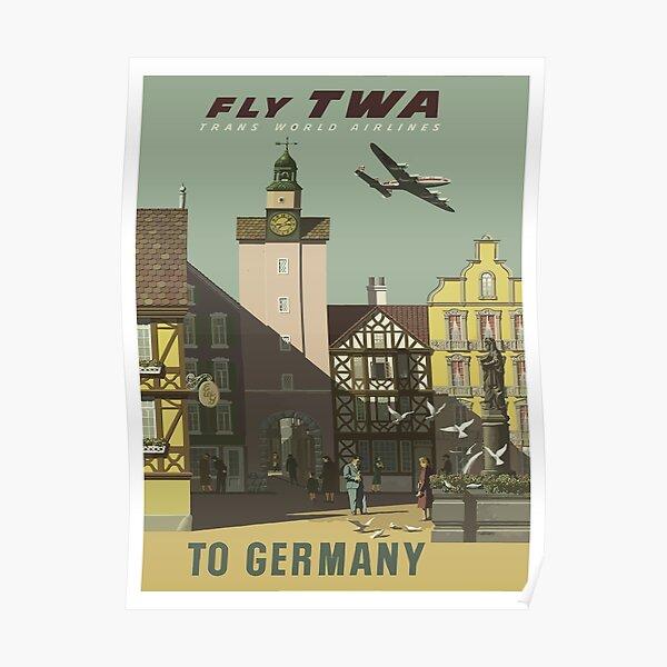 Germany German Spring Europe European Vintage Travel Advertisement Poster