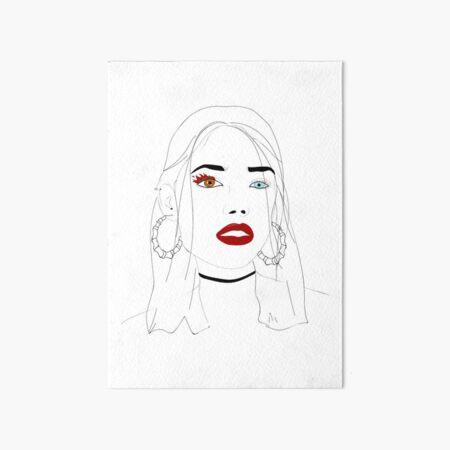 girl Art Board Print