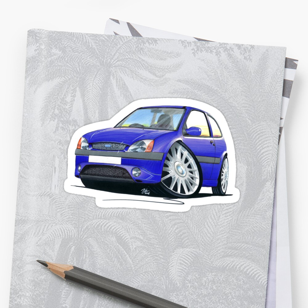 "Ford Fiesta 1 2 Zetec 5 Door Hatchback: ""Ford Fiesta (Mk5) Zetec S Blue"" Stickers By Yeomanscarart"