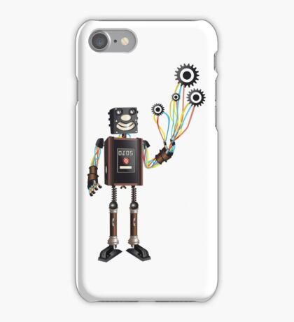 """Robot & His Mechanical Balloons"" iPhone Case/Skin"