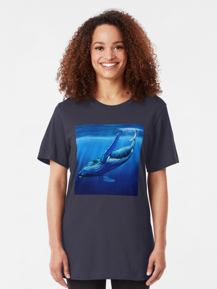 Alternate view of Blue Whale Dive Slim Fit T-Shirt