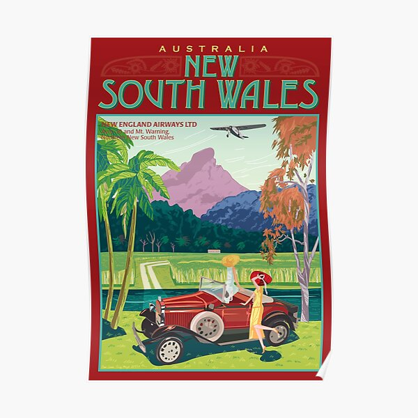 NSW Art Deco Airliner Poster