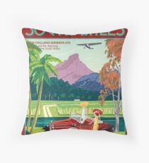 NSW Art Deco Airliner Throw Pillow