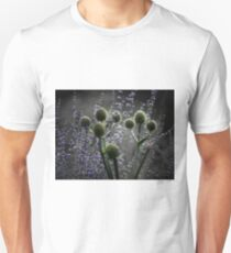 Russian Sage, Rattlesnake Master, Green and Purple T-Shirt