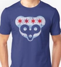 Chicago Flag Cubs Face T-Shirt