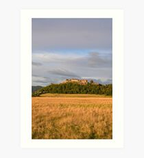 Stirling Castle in golden light Art Print
