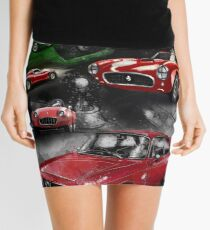 Historic Car Art Mini Skirt