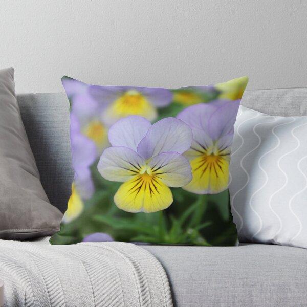 Italian Garden - Pansy Throw Pillow
