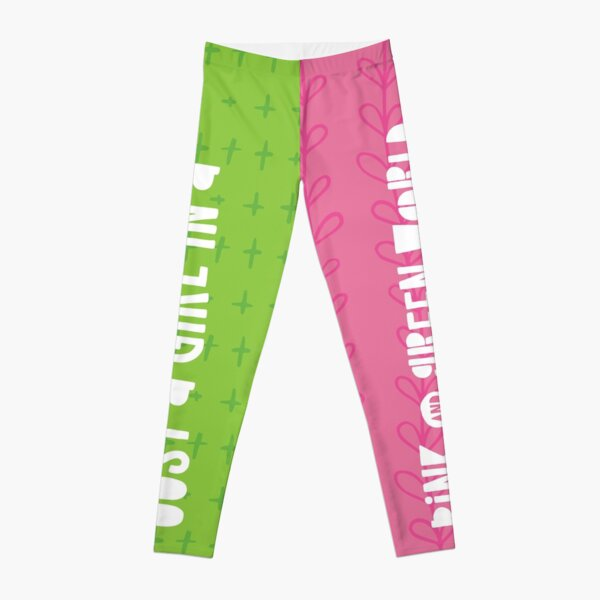 Just A Girl in a Pink and Green World Leggings