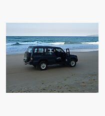 Beach 4WD Photographic Print