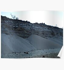 Sand Cliff Poster