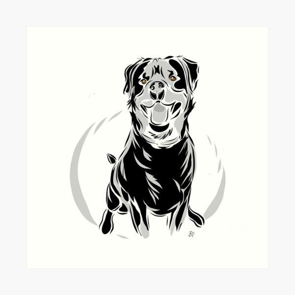 Rottweiler - Happy Kunstdruck