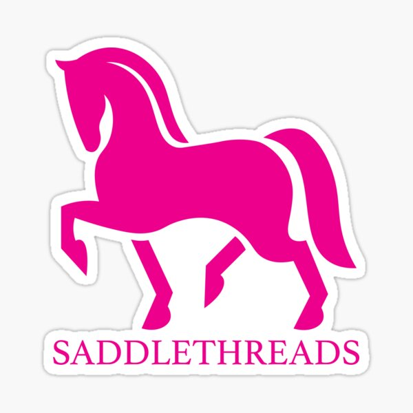 Saddlethreads - Pink Sticker