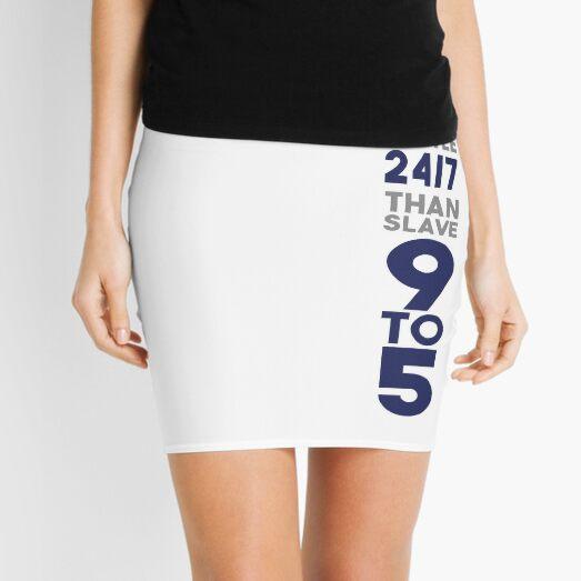 Hustle 24/7 - Blue Mini Skirt