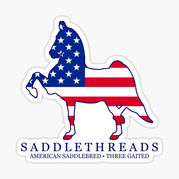 Three Gaited American Saddlebred - USA Sticker