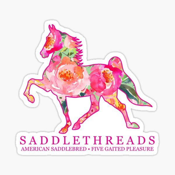 Five Gaited Pleasure American Saddlebred - Bloom Sticker