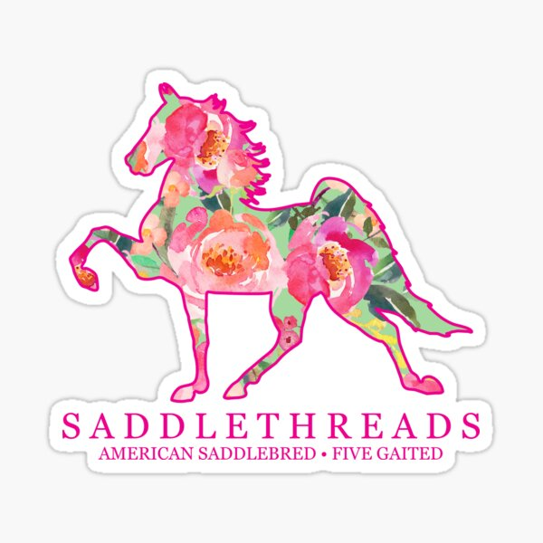 Five Gaited American Saddlebred - Bloom Sticker
