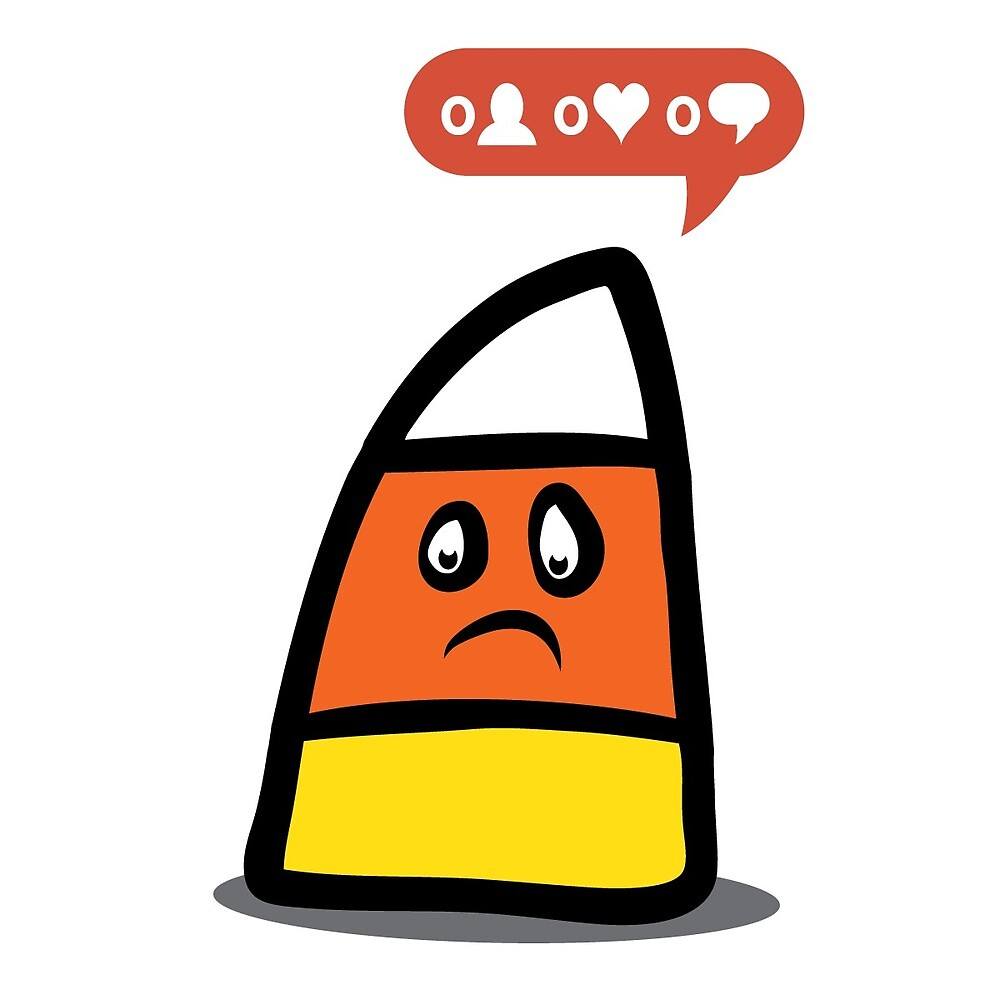Sad Candy Corn - No Likes by pixelmandan