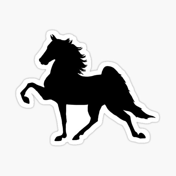 Five Gaited American Saddlebred - Black Sticker