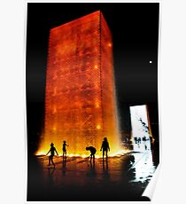 Crown Fountain,  Millennium park, Chicago architecture Poster