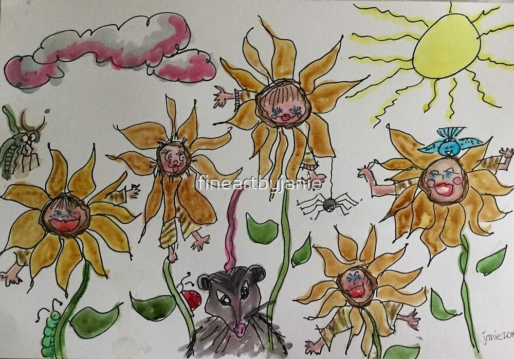 Sunflower Kids by fineartbyjanie