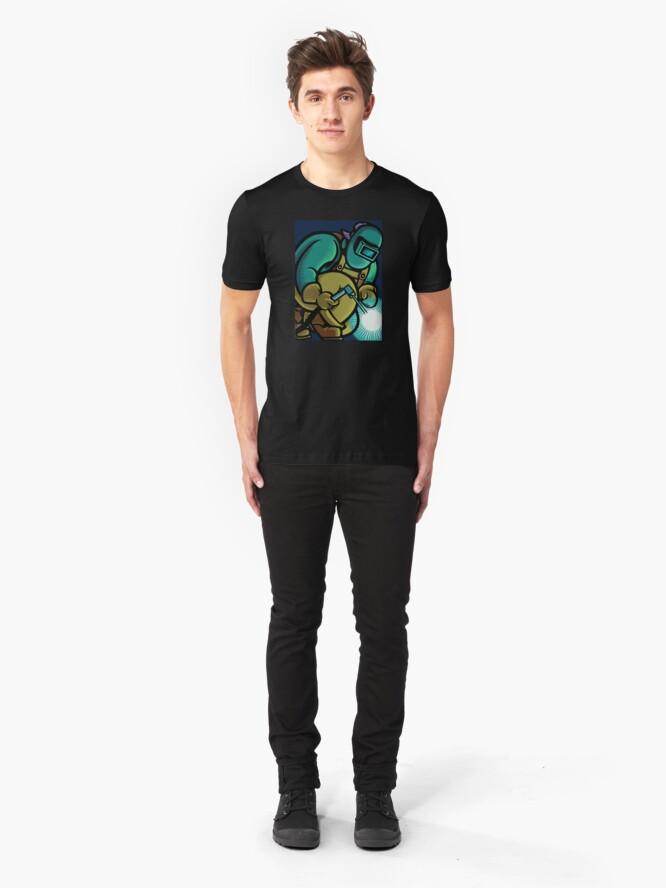 Alternate view of Welder Torch Slim Fit T-Shirt