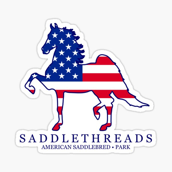 Park American Saddlebred - USA Sticker