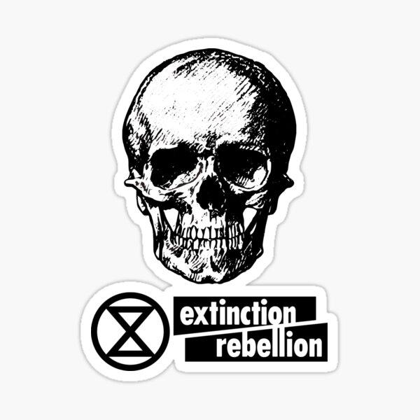 Extinction Rebellion Skull Logo Sticker