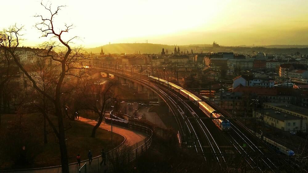 Golden Prague by Mathef