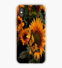 Sunflower Radiance Monarch Butterfly iPhone Case