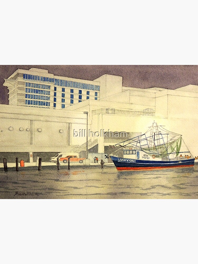 Shrimp Boat At Biloxi Ms Art Board Print By Billholkham Redbubble