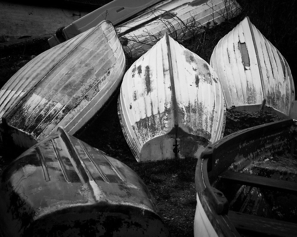 Inverted Rowing Boats by herbpayne