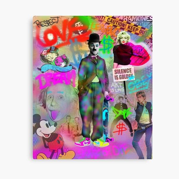 Charlie Chaplin Pop Art Lienzo